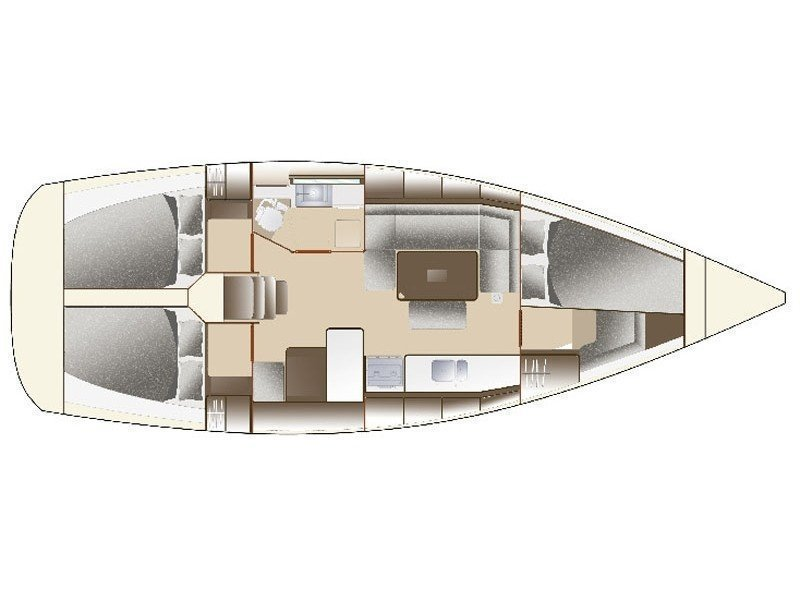 Dufour 375 Grand Large (Mara R) Plan image - 9