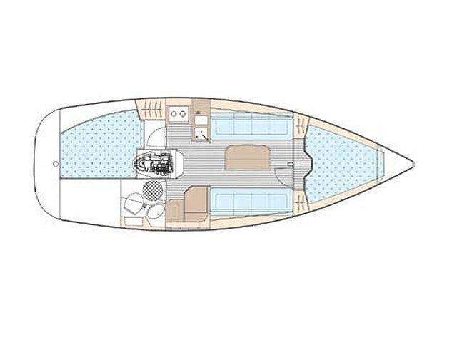Bavaria 30 Cruiser (Guantanamera) Plan image - 3