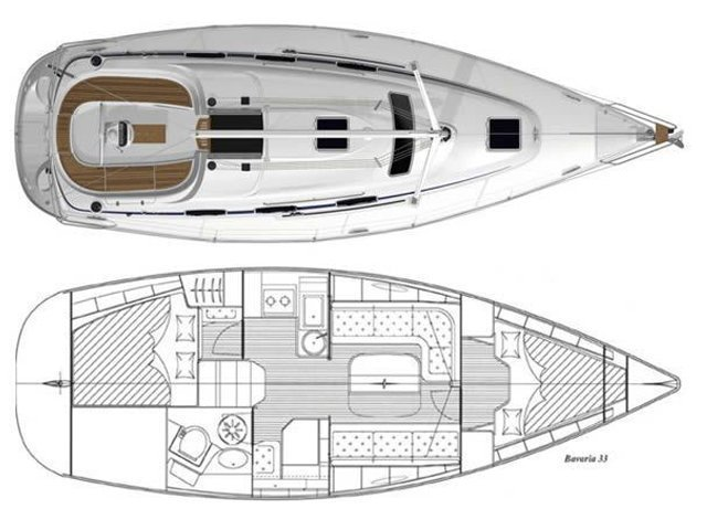 Bavaria Cruiser 33 (Bavaria Cruiser 33) Plan image - 2