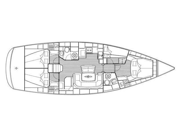 Bavaria 46 Cruiser (Marinas) Plan image - 1