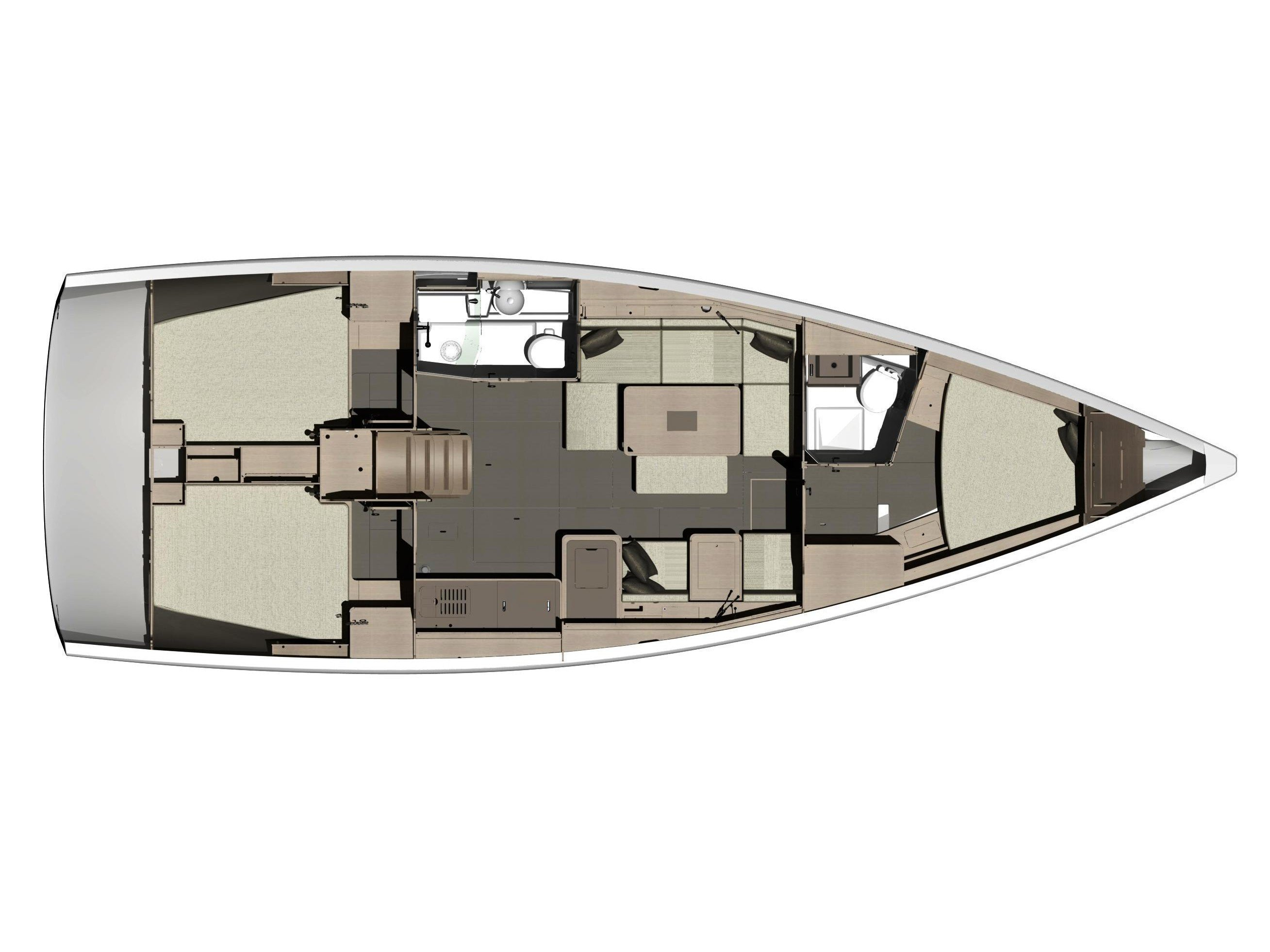 Dufour 410 (3c-2h) (Sea Rose) Plan image - 2