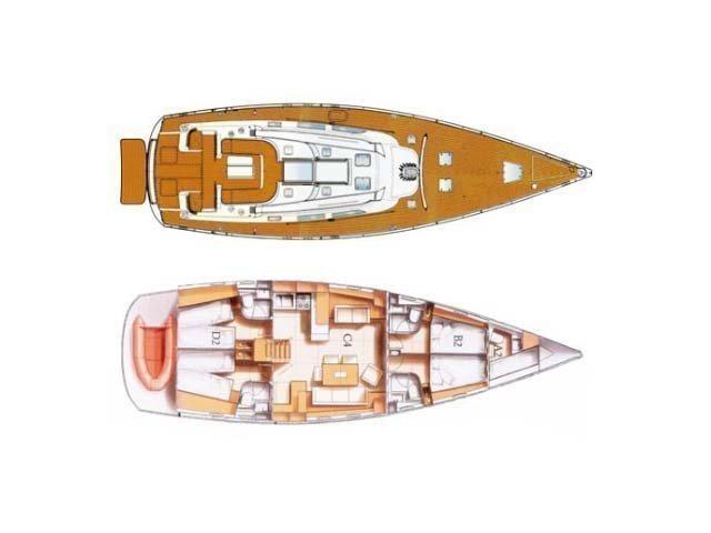 Hanse 531 (Aurelia) Plan image - 6