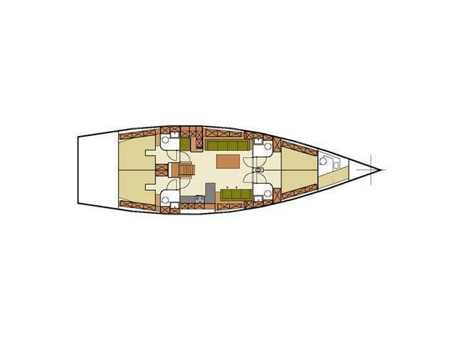 Hanse 540 (YANNIS 65 S) Plan image - 21