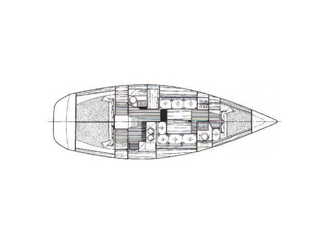Oceanis 390 (Chiruca Dos (Majorca)) Plan image - 5