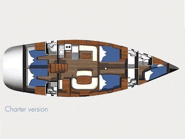 Ocean Star 56.1 - 5 cabins (Alexandria) Plan image - 6