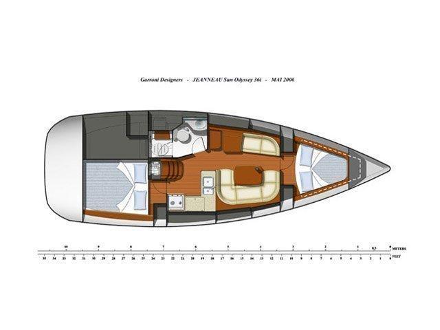 Sun Odyssey 36i (Marina) Plan image - 2