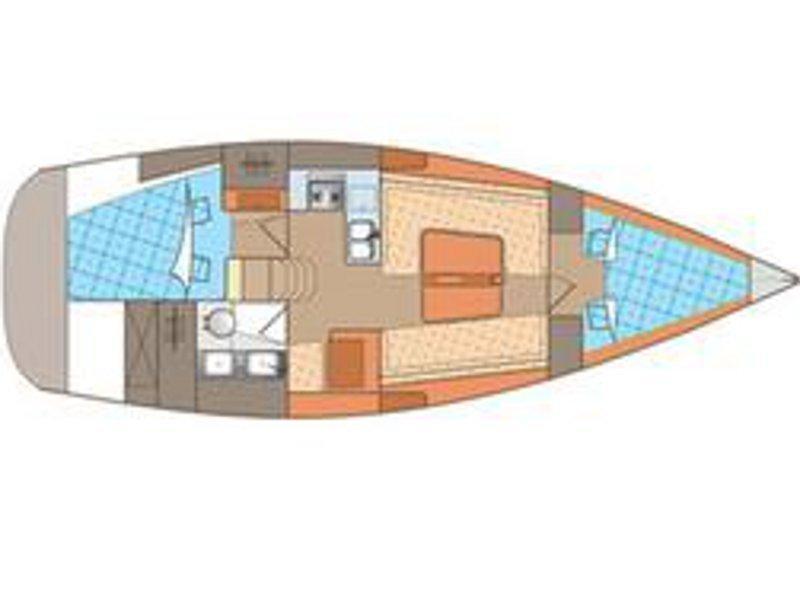 Elan 340 (Echo (Mainsail 2015, Genoa 2013)) Plan image - 1