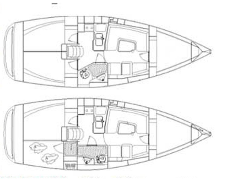 Elan 344 Impression (Martina II (sails 2015)) Plan image - 1