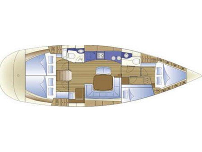 Bavaria 44 (Anis (Mainsail 2015, Genoa 2013)) Plan image - 1