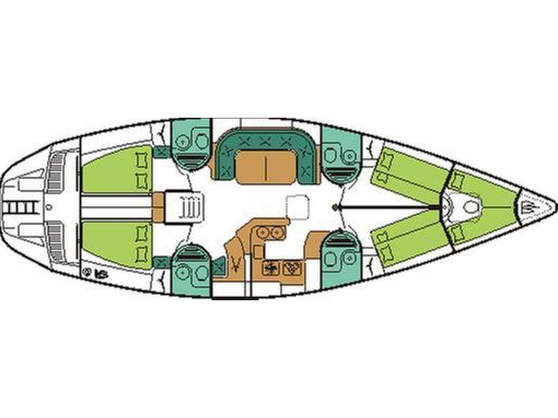 Sun Odyssey 51 (Quint II (renewed 2017)) Plan image - 2