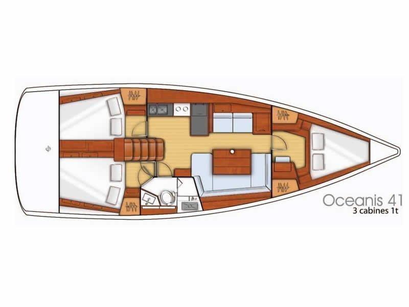 Oceanis 41 (Fata Morgana) Plan image - 6