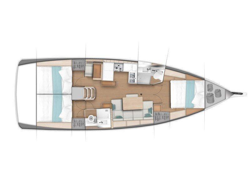 Sun Odyssey 440/3cab. (My Jenny) Plan image - 2