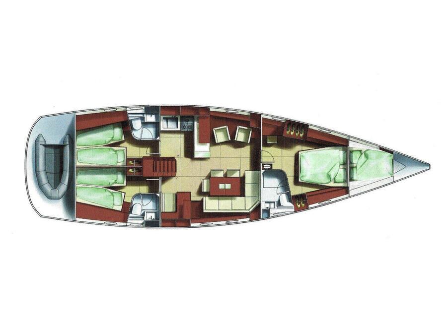 Hanse 531 (Bahia Feliz III) Plan image - 7
