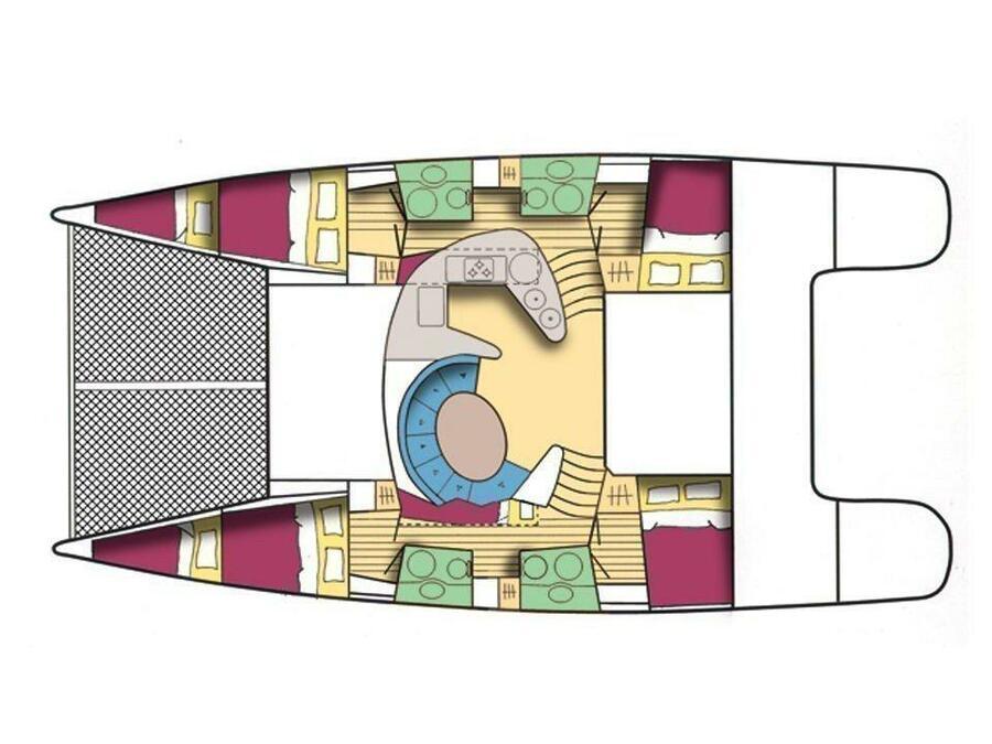 Bahia 46 (Alion - Refit 2018!!!) Plan image - 2
