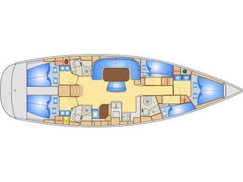 Bavaria 50 Cruiser (Taragon) Plan image - 2
