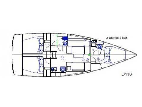 Dufour 410 Grand Large 6 (Julia) Plan image - 1