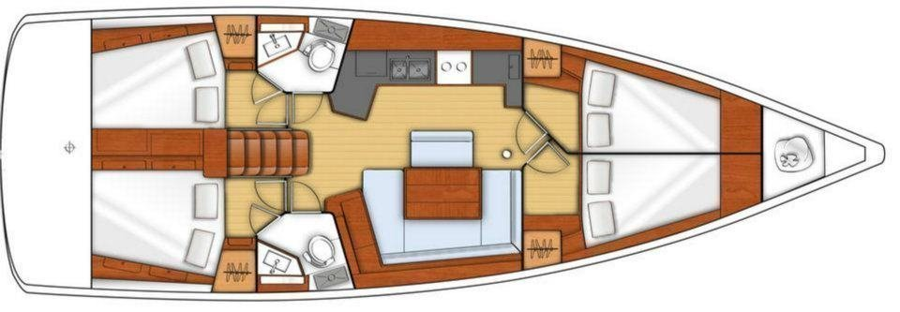 Oceanis 45 (Teran) Plan image - 4
