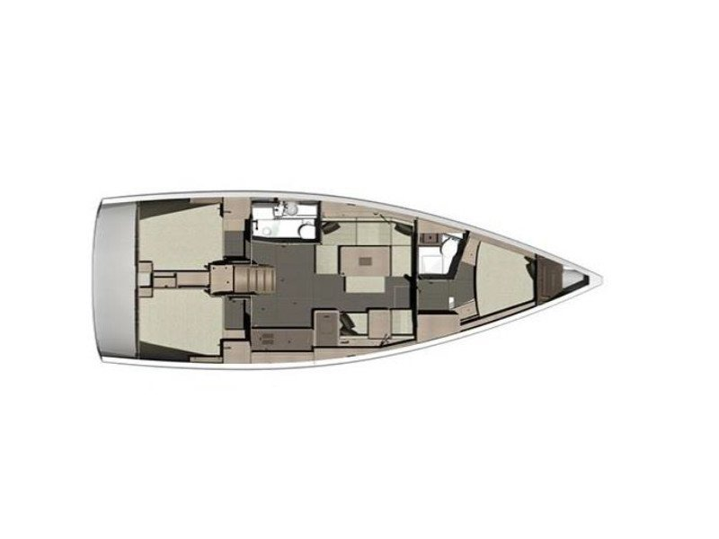 Dufour 412 GL (BLACK PEARL) Plan image - 1
