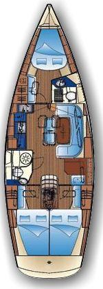 Bavaria 40 Cruiser (Franzi) Plan image - 1