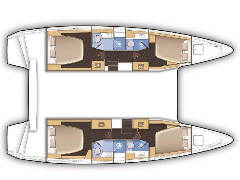 Lagoon 42 (AITUTAKI  (AC in salon + generator)) Plan image - 12