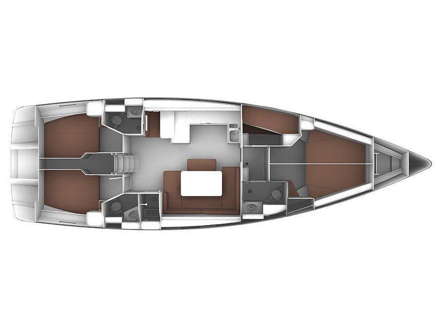 Bavaria Cruiser 51 (S/Y Thalassa) Plan image - 1