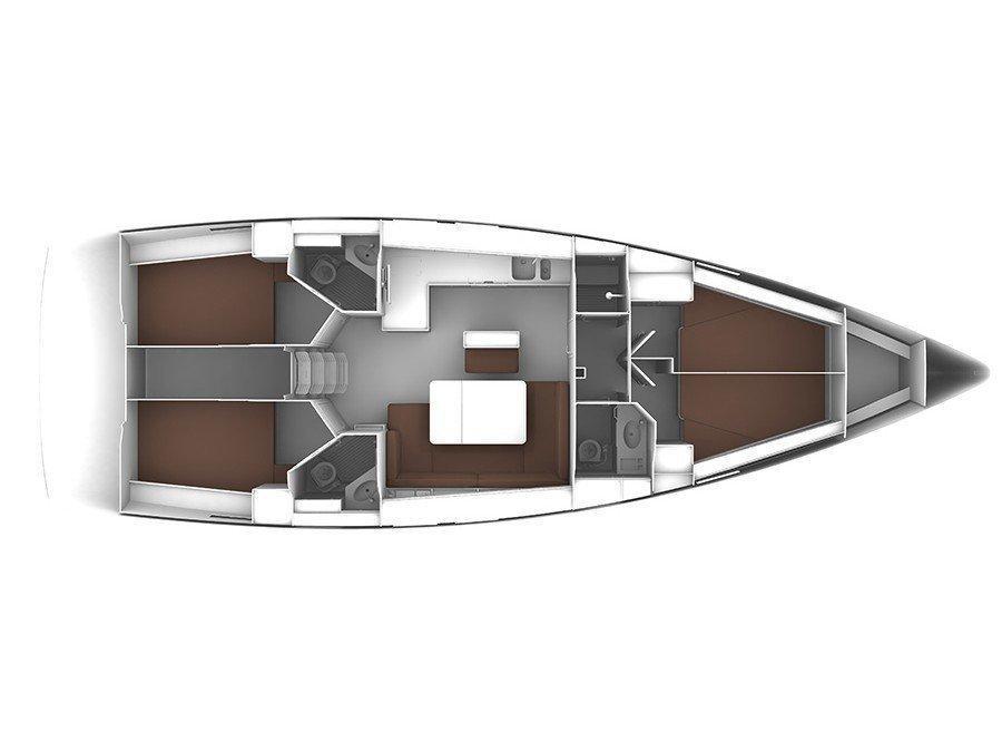 Bavaria Cruiser 46 (S/Y Amaryllis) Plan image - 2
