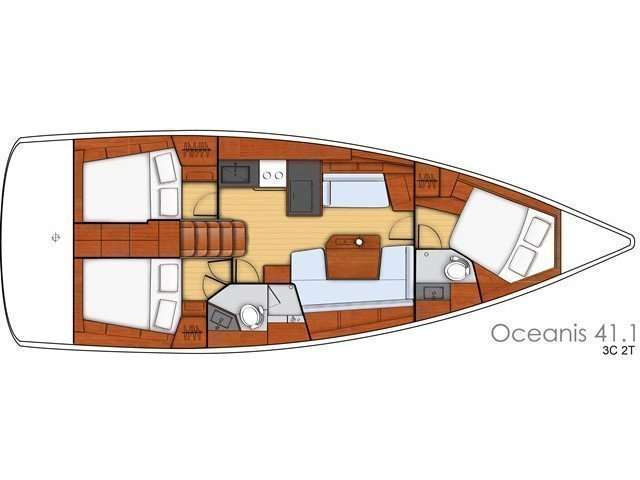 Oceanis 41.1 (WHITE BIRD) Plan image - 3