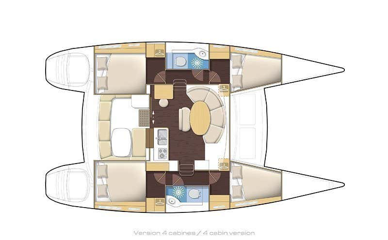 Lagoon 380 (NOA) Plan image - 12