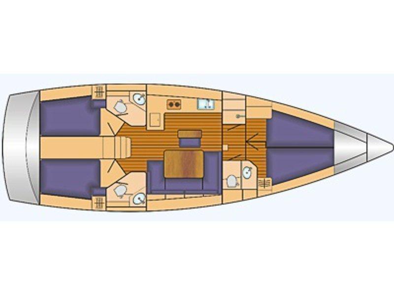 Bavaria Cruiser 46 (Libertá (Modell 2016, boated 2016)) Plan image - 10