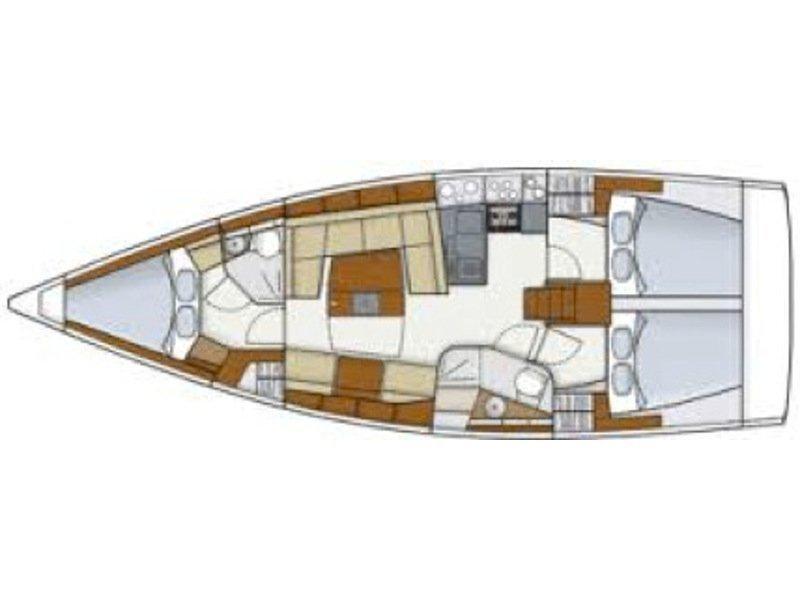 Hanse 415 (Catherine) Plan image - 1