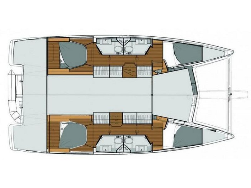 Fountaine Pajot Lucia 40 (Luce, A/C - Generator, A/C, Watermaker - 2017.) Plan image - 14