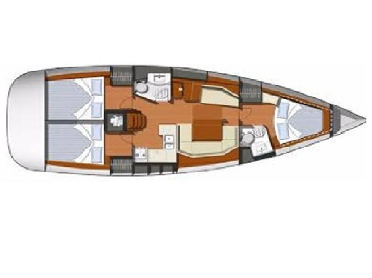 Sun Odyssey 42i (Travels with Tin Tin IV) Plan image - 1