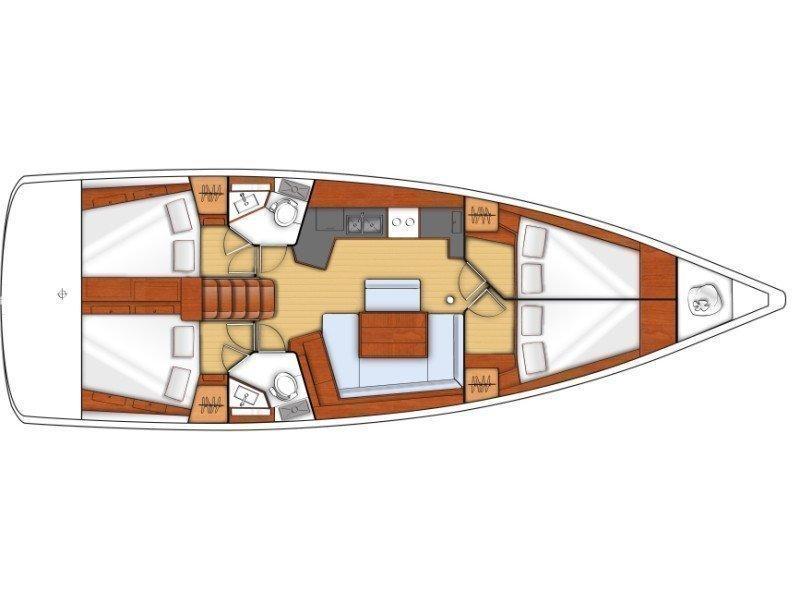 Oceanis 45- 4 cab (NIKA) Plan image - 3