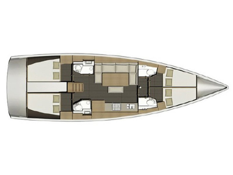 Dufour 460 Grand Large (ERCO) Plan image - 2