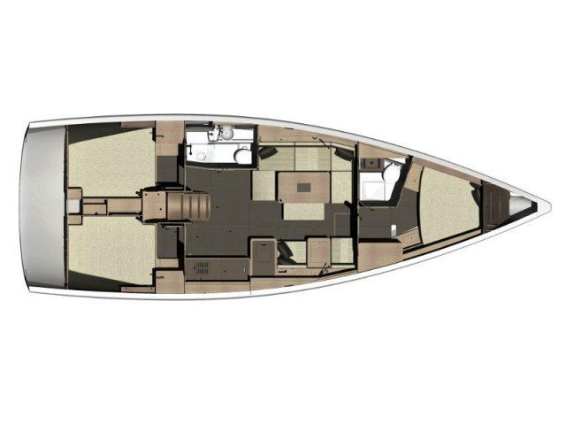 Dufour 410 Grand Large (MISTRAL new sails 2018) Plan image - 4