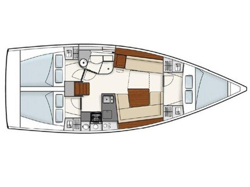 Hanse 385 (Manamana) Plan image - 8