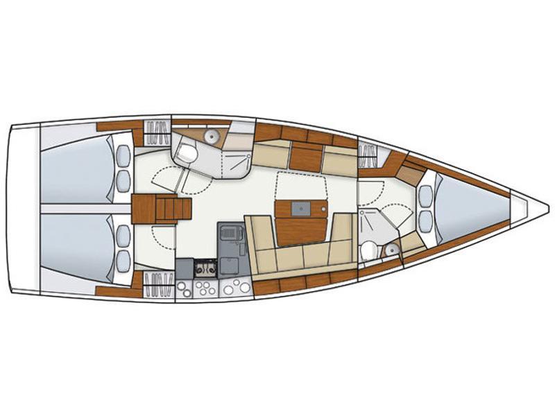 Hanse 415 (Argo Navis) Plan image - 6