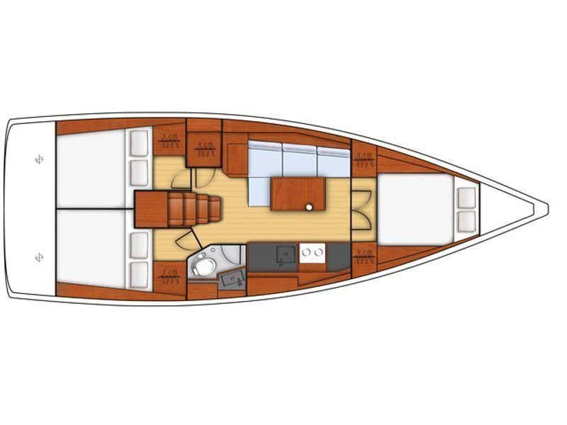 Oceanis 38.1 (Femi Pearl) Plan image - 2