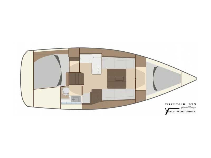 Dufour 335 Grand Large (PIPPI new sails 2018) Plan image - 2