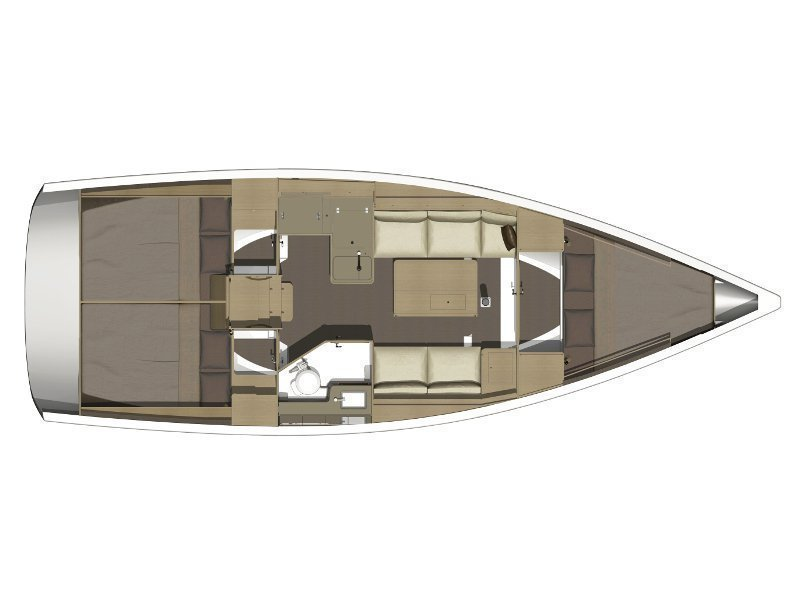 Dufour 350 GL (Chiara) Plan image - 2