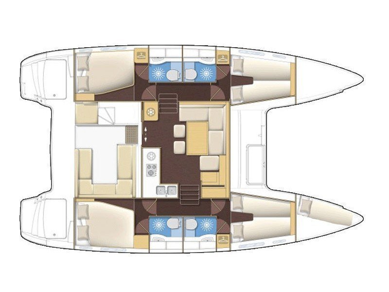 Lagoon 400 S2 (SUMMERTIME ) Plan image - 1
