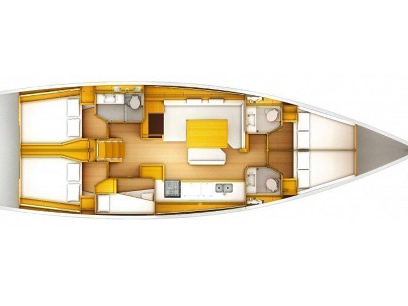 Sun Odyssey 509 (Achilles) Plan image - 12