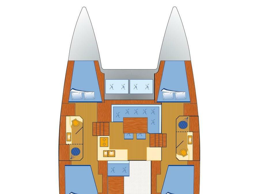 Lagoon 40 (Vaiana) Plan image - 15