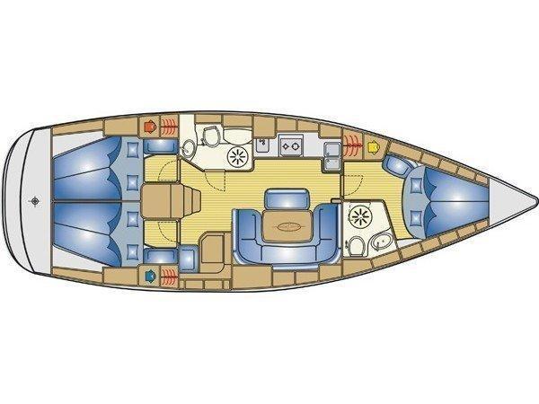 Bavaria 39 Cruiser (S/Y Aretousa) Plan image - 1