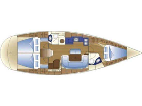 Bavaria 43 Cruiser (S/Y Constantina) Plan image - 2