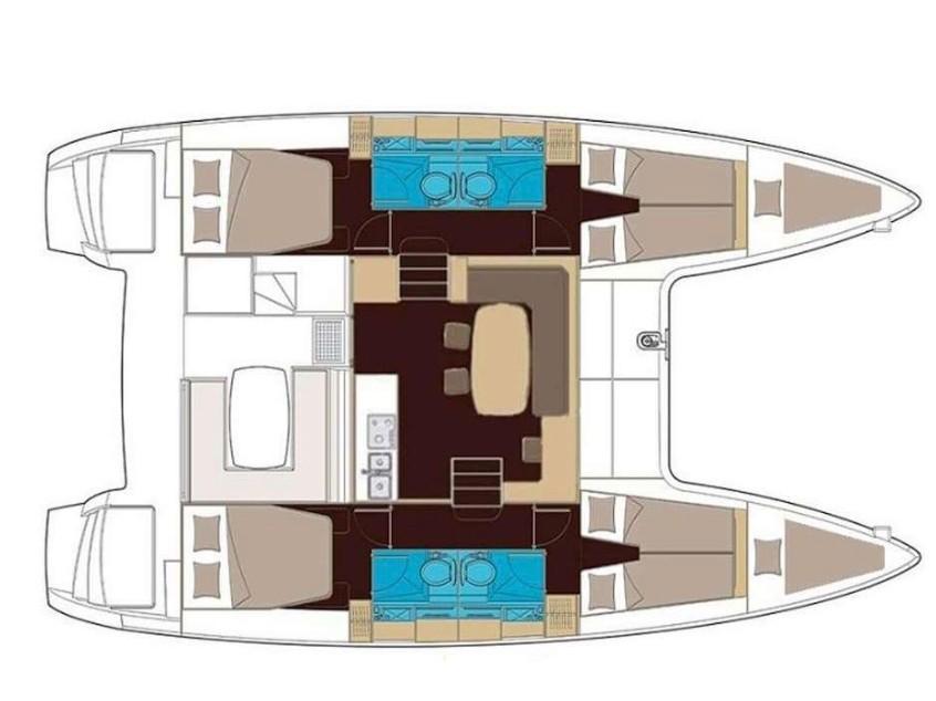 Lagoon 400 S2 (Auster) Plan image - 4