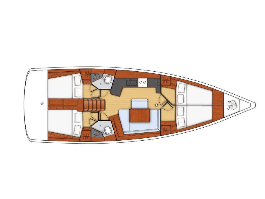 Oceanis 45 (Agathos) Plan image - 9
