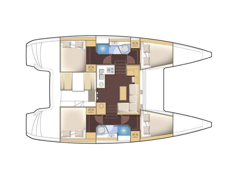 Lagoon 39 (Monique) Plan image - 22