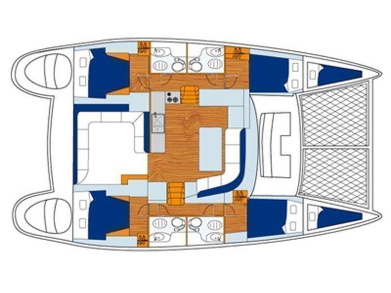 Lagoon 440 (Georgina) Plan image - 1