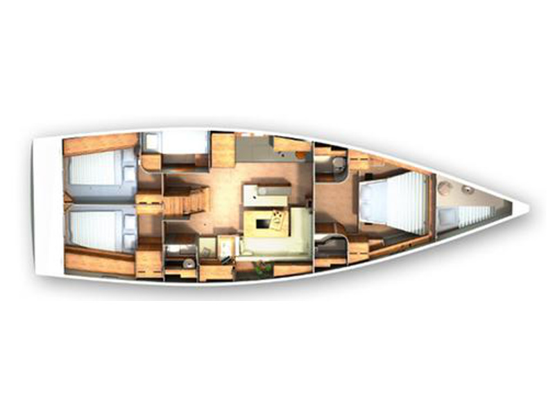 Hanse 505 (5+1 cab) (Skyline) Plan image - 1